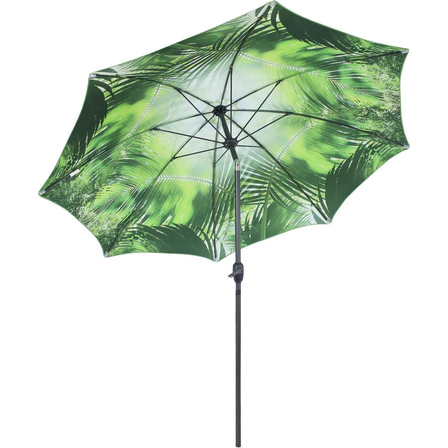Green Tropical Leaf Patio Umbrella