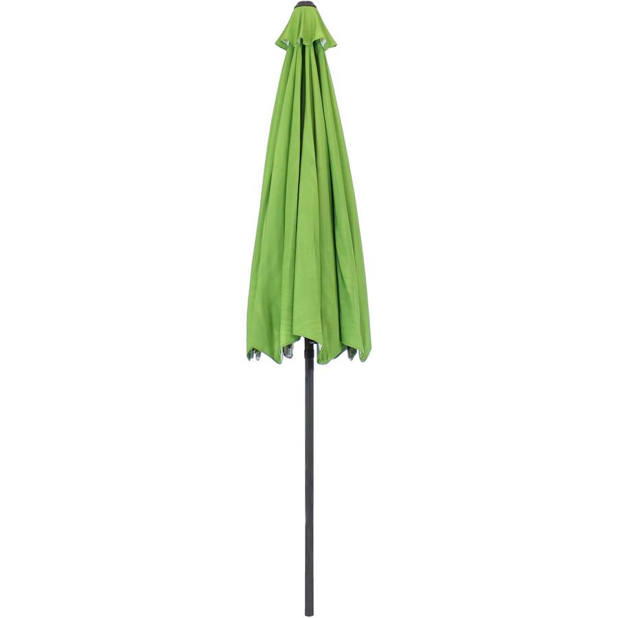 Green Tropical Leaf Patio Umbrella (Closed)