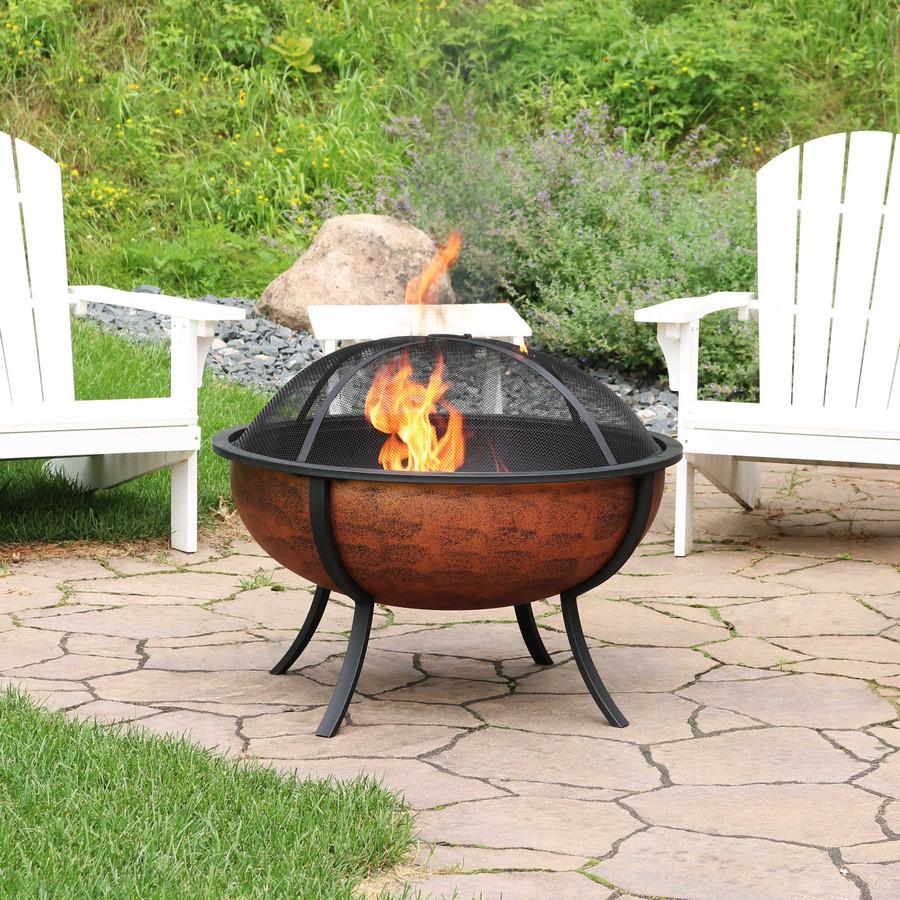 Sunnydaze Large Copper Finished Outdoor Fire Pit Bowl