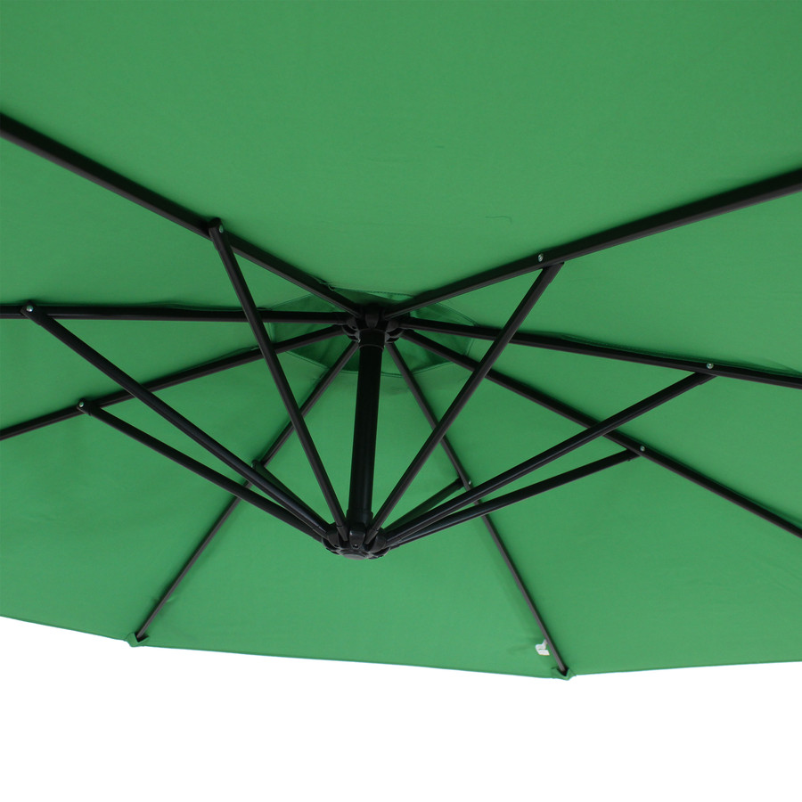 Closeup of Underside of Umbrella, Emerald