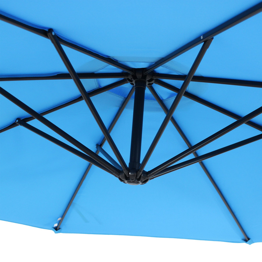 Closeup of Underside of Umbrella, Azure