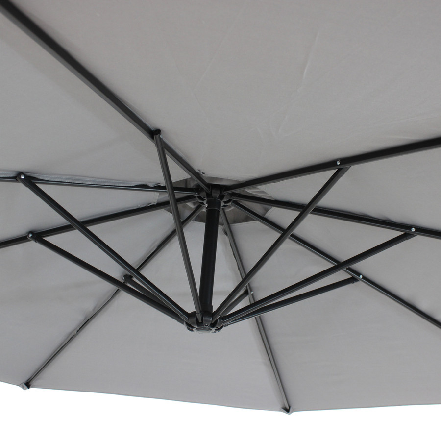 Closeup of Underside of Umbrella, Smoke