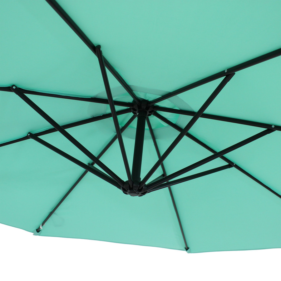 Closeup of Underside of Umbrella, Seafoam