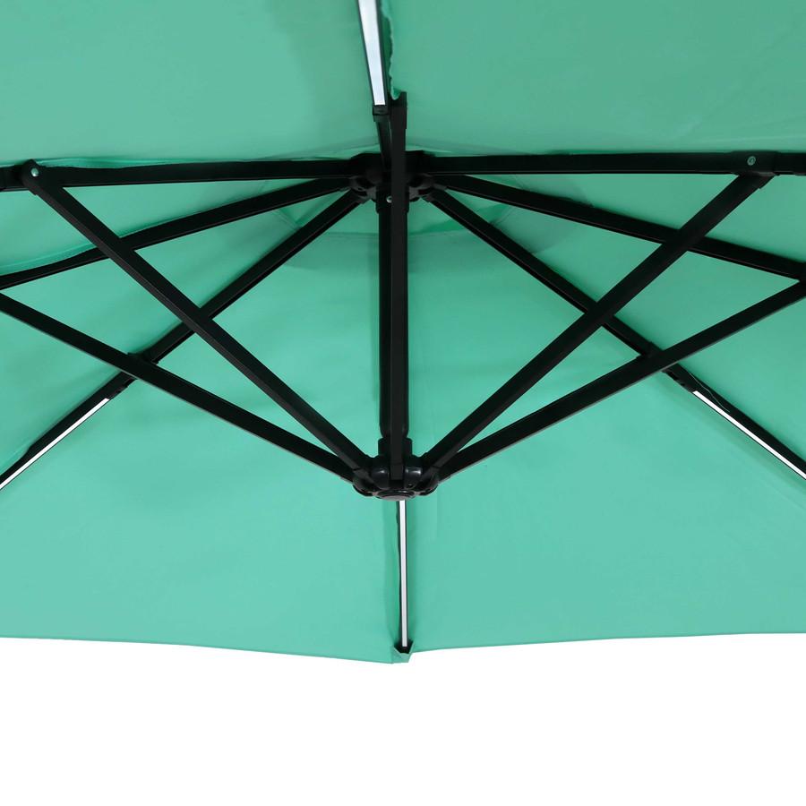 Closeup of Underside of Umbrella, Seafoam