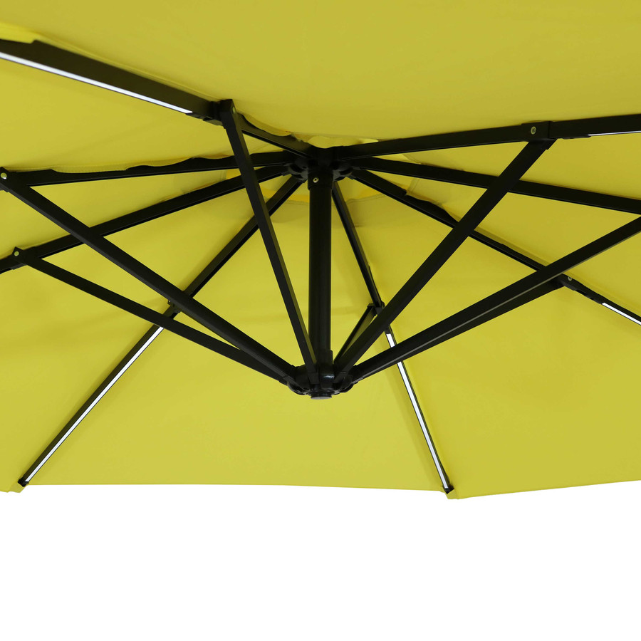 Closeup of Underside of Umbrella, Sunshine