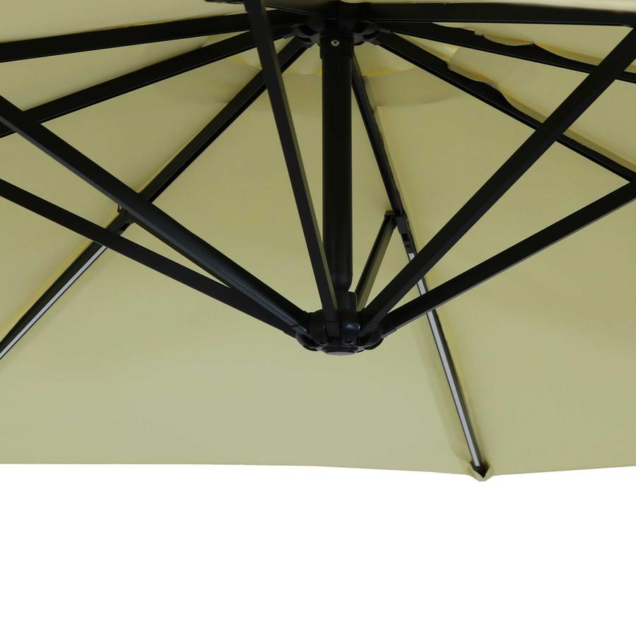 Closeup of Underside of Umbrella, Pale Buttercup