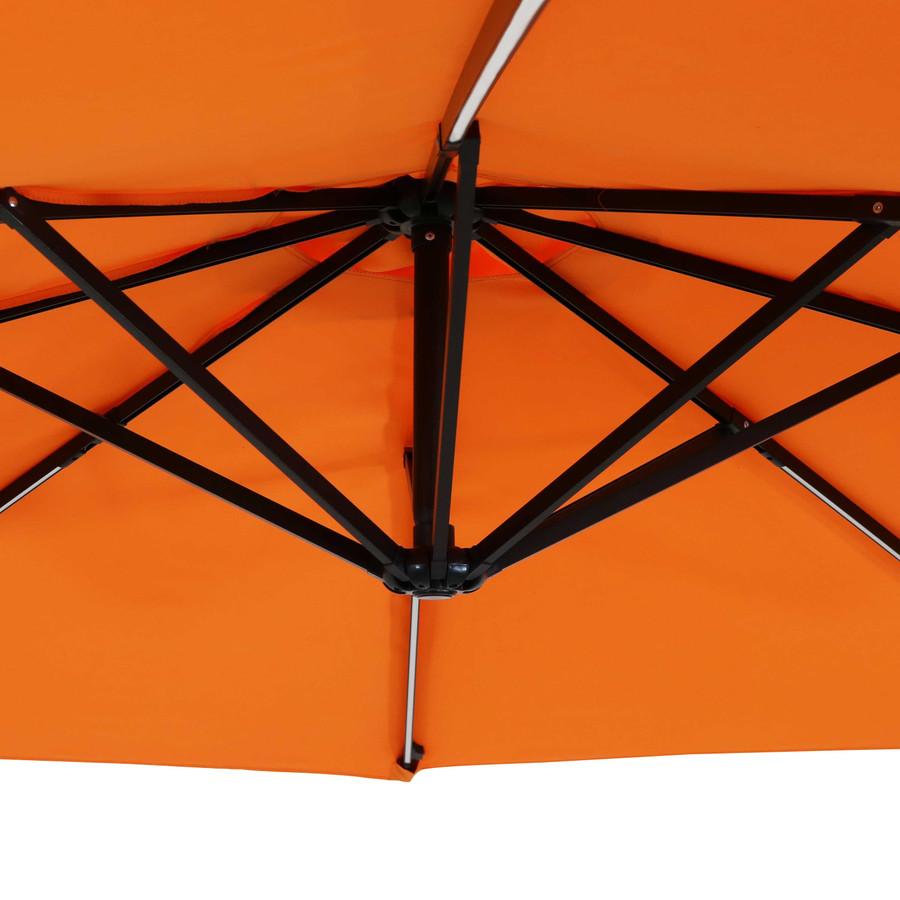 Closeup of Underside of Umbrella, Tangerine