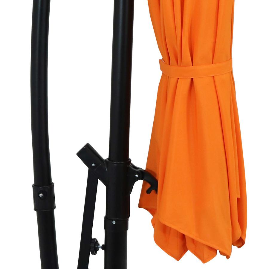 Closeup of Umbrella Tie, Tangerine