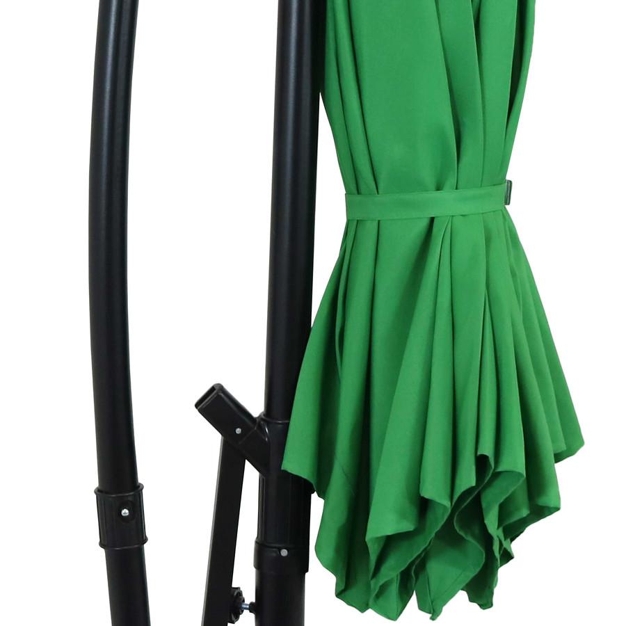 Closeup of Umbrella Tie, Emerald