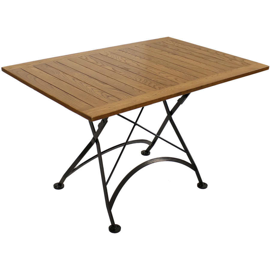 "Sunnydaze European Chestnut Wood Folding Dining Table - 47"" x 31"""