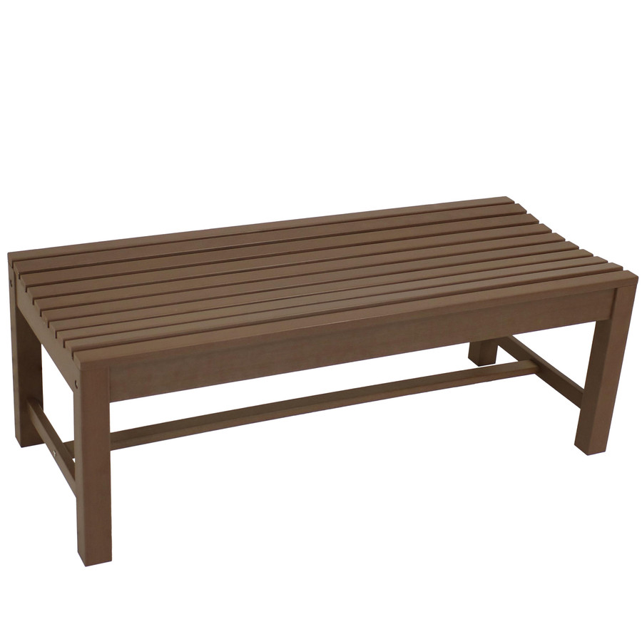 Shandon Outdoor Backless Bench, Brown