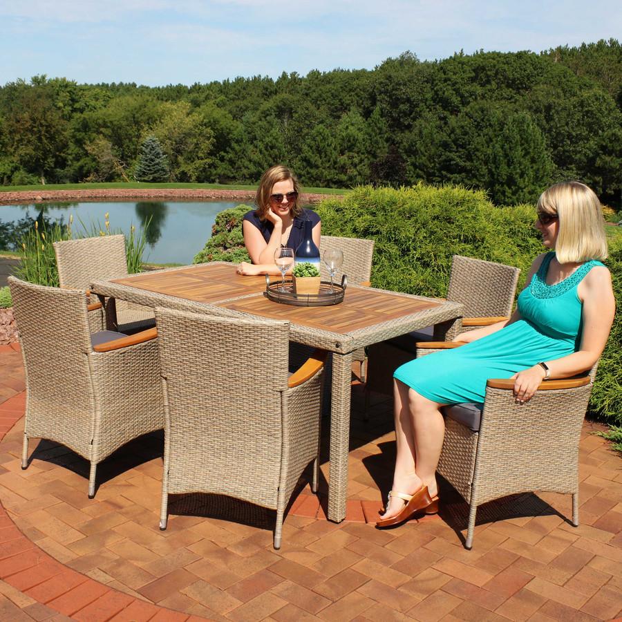 Coachford 4-Piece Black Resin Rattan Outdoor Patio Furniture Set