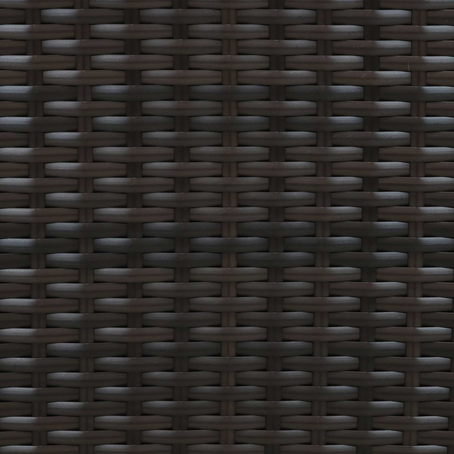 Swatch of Brown Resin Rattan