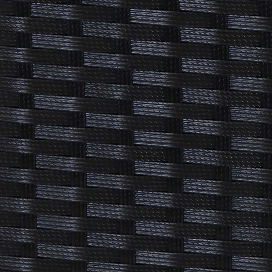 Swatch of Black Resin Rattan