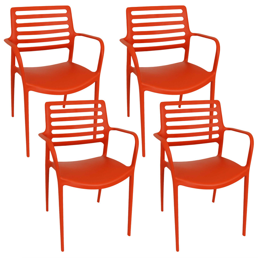 Orange Set of 4