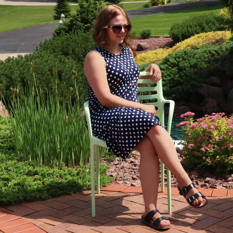 Sunnydaze Astana Plastic Outdoor Dining Chair