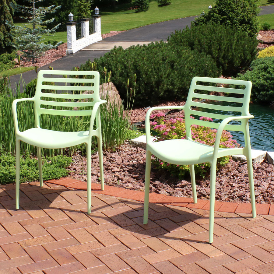 Sunnydaze Astana Plastic Outdoor Dining Chairs