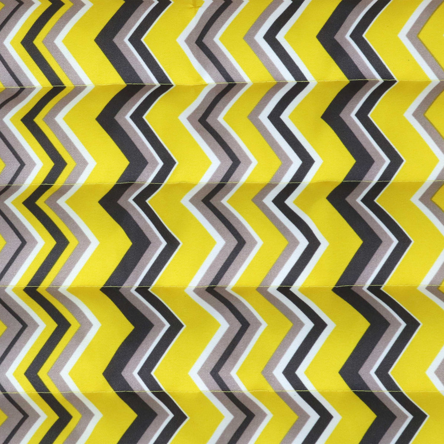 Yellow and Gray Chevron