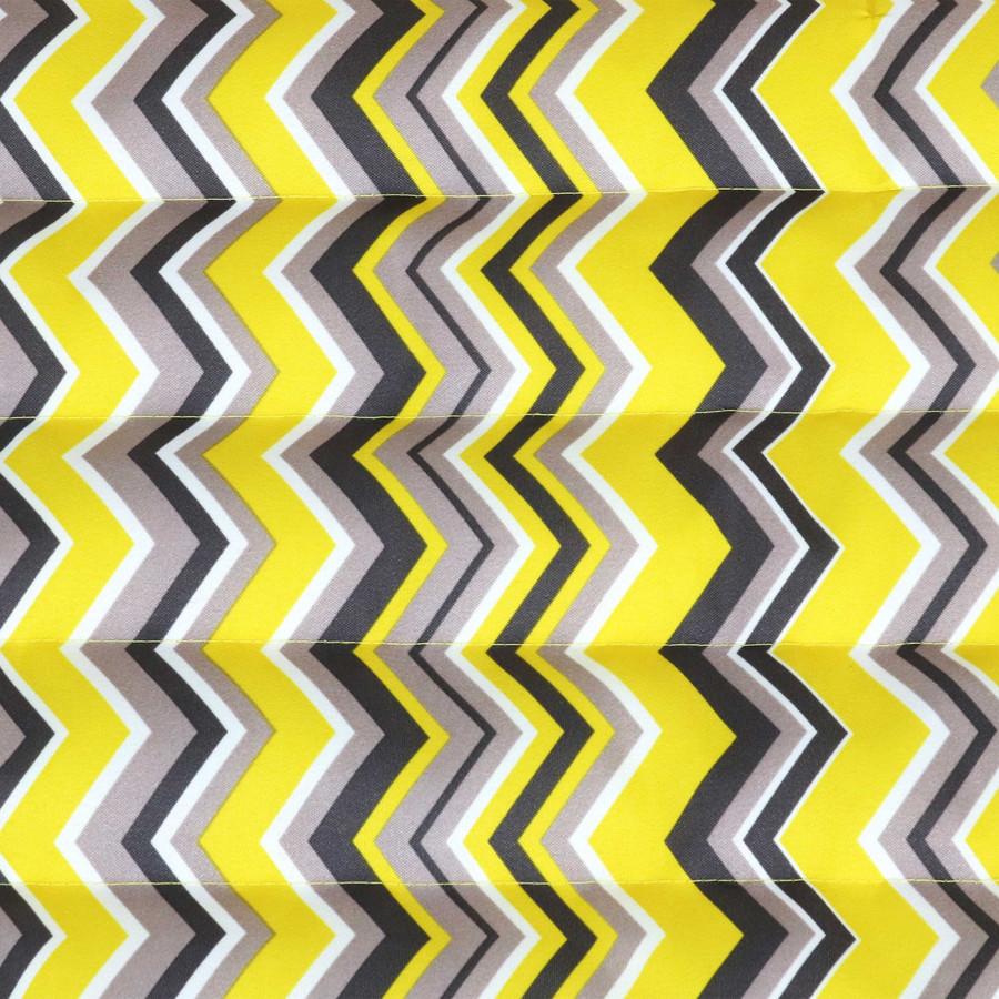Yellow and Gray Chevron