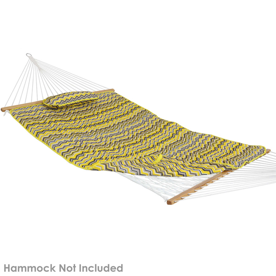 Sunnydaze Cotton Quilted Hammock Pad and Pillow - Stripe Prints