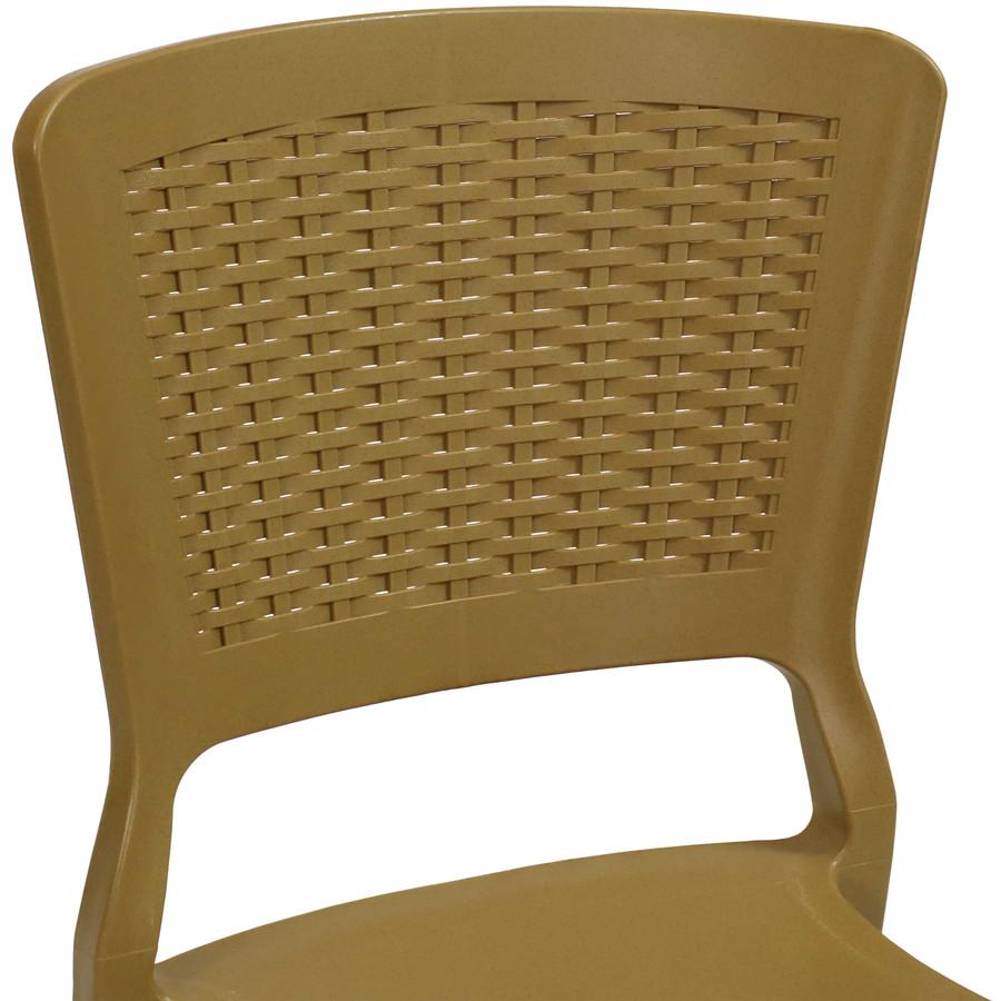 Wood Brown Seat Back Closeup