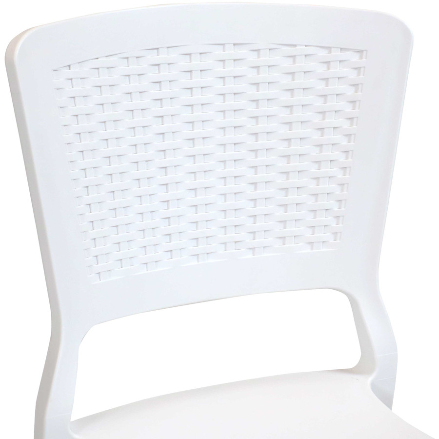 White Seat Back Closeup