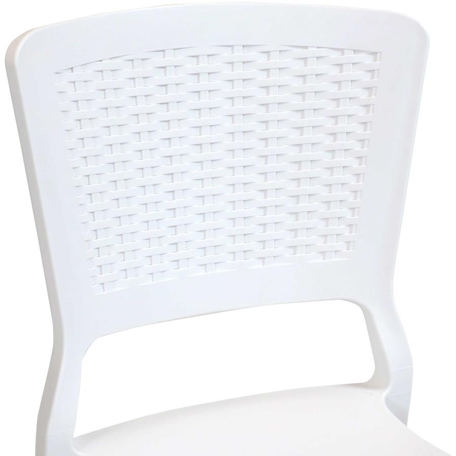 White Seat Back Closeup