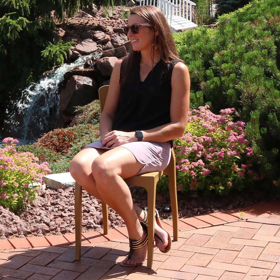 Sunnydaze Hewitt Plastic Patio Outdoor Dining Chair
