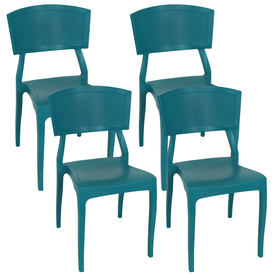 Teal Set of 4