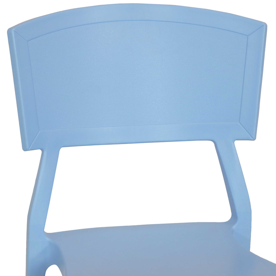 Light Blue Seat Back Closeup