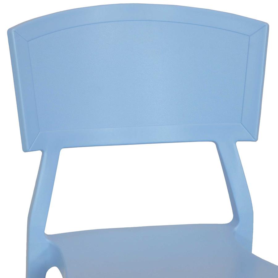Light Blue Seat Back Closeup