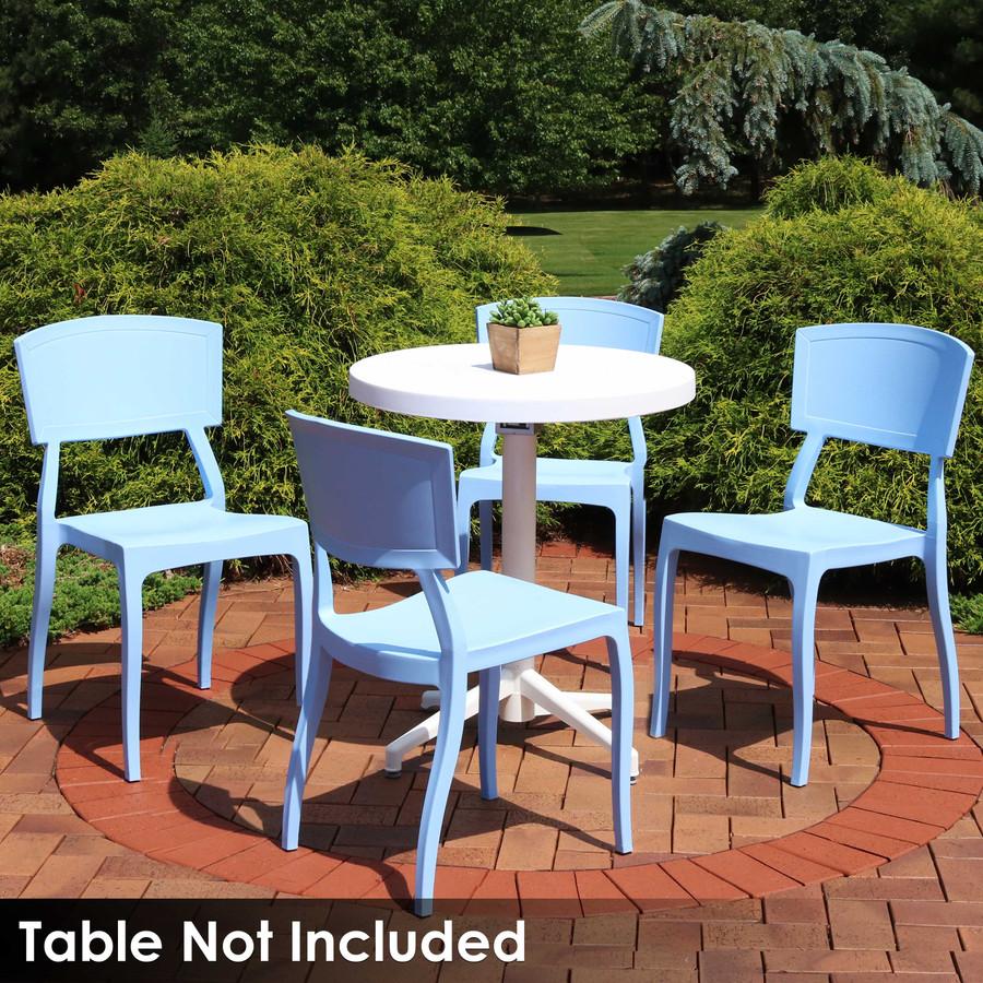 Sunnydaze Elmott All-Weather Plastic Patio Dining Chair Seat