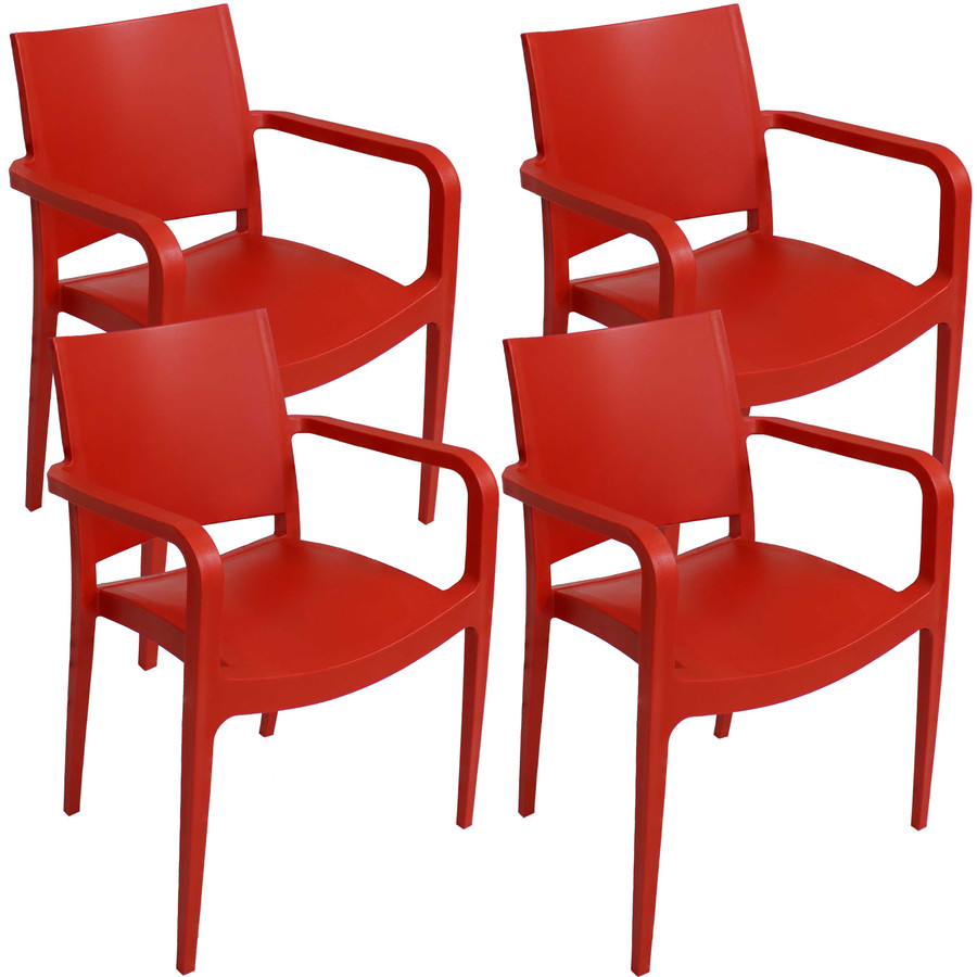 Red Set of 4
