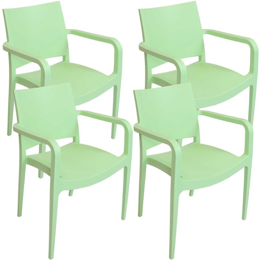 Light Green Set of 4