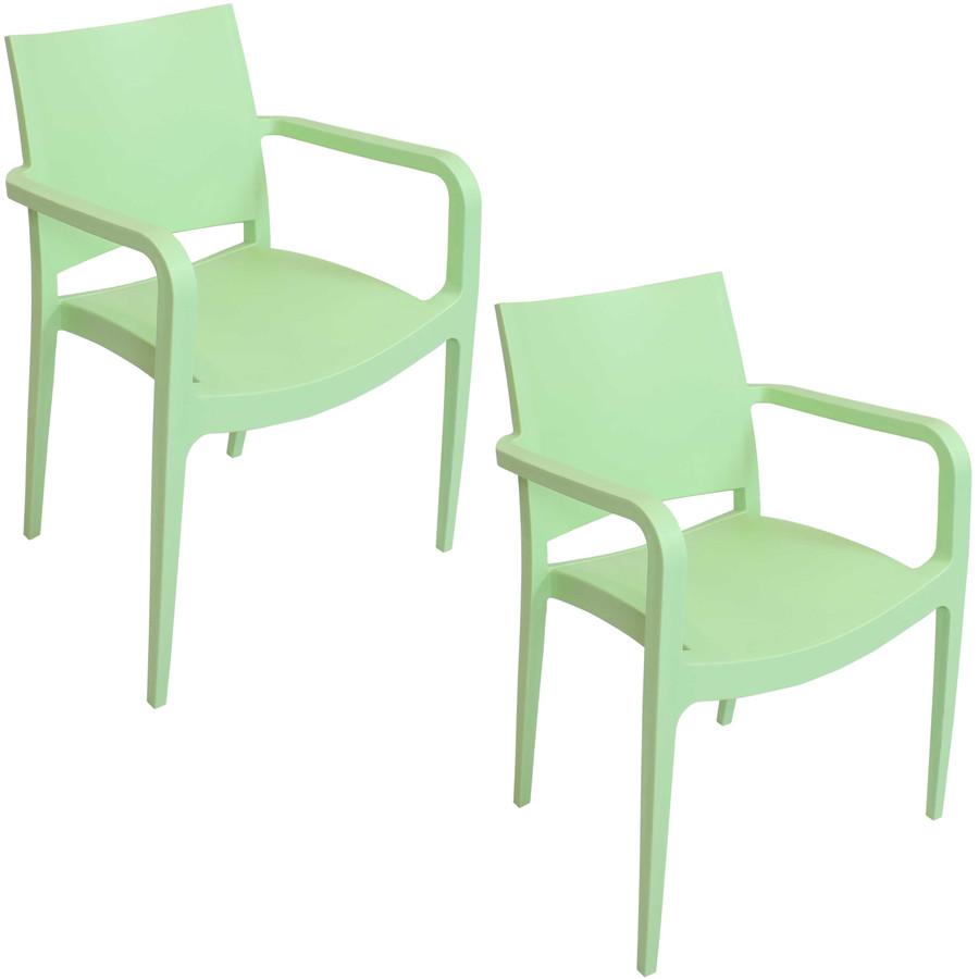 Light Green Set of 2