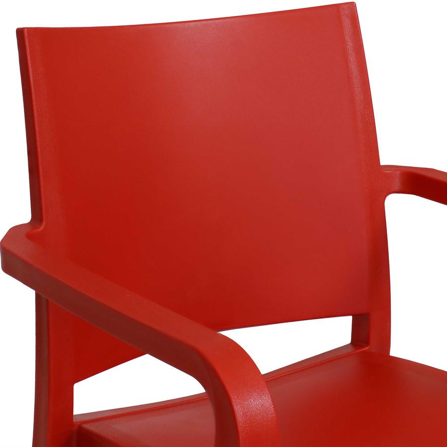Red Seat Back Closeup