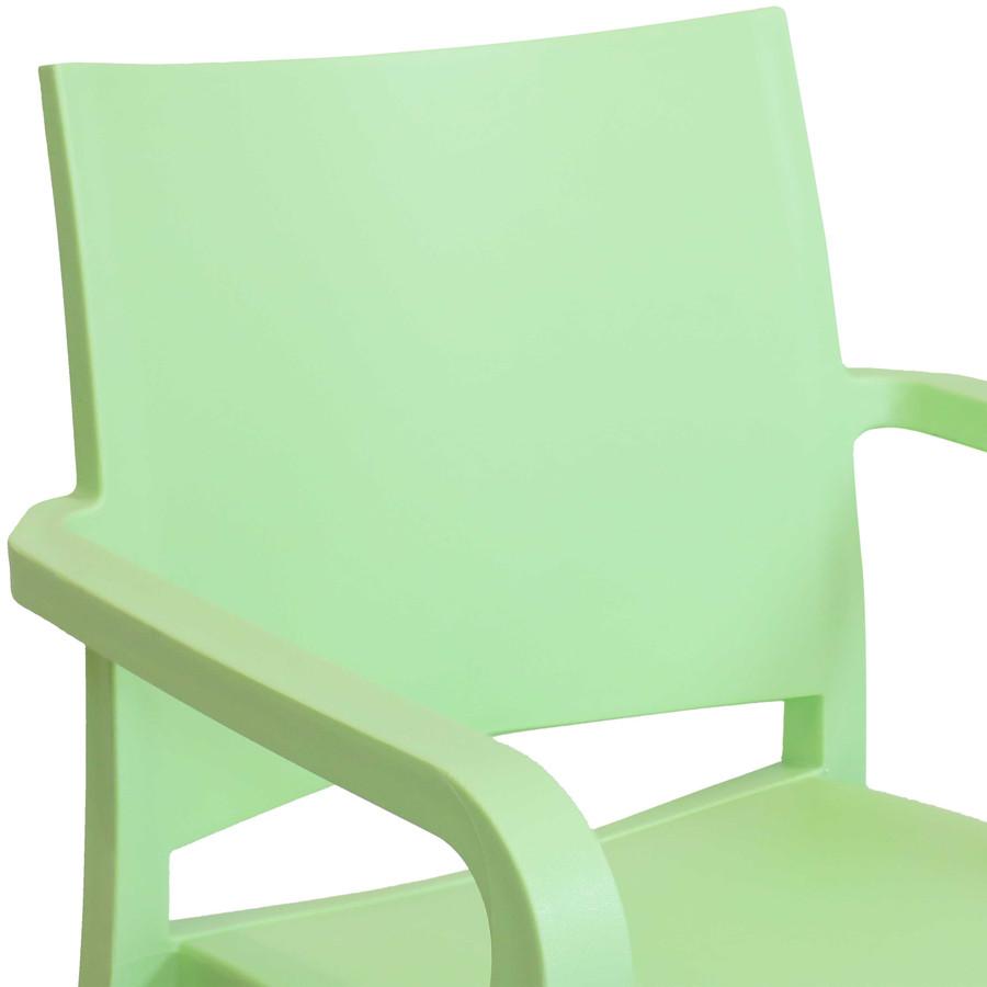 Green Seat Back Closeup