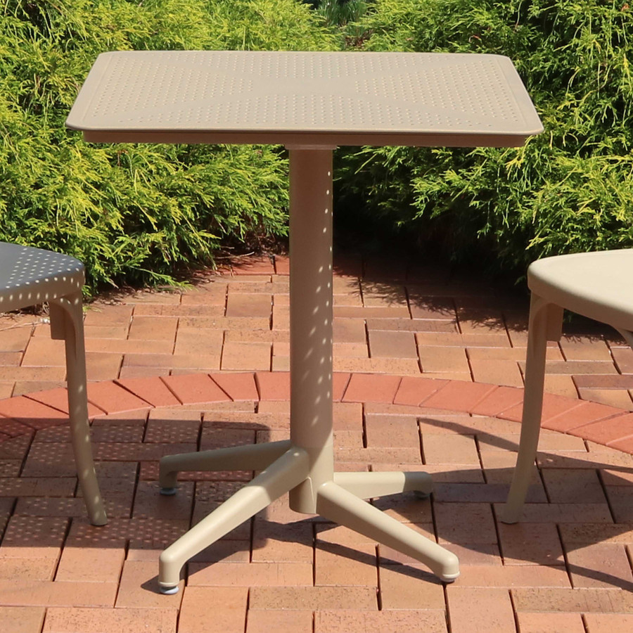 Sunnydaze All-Weather Square Plastic Patio Dining Table