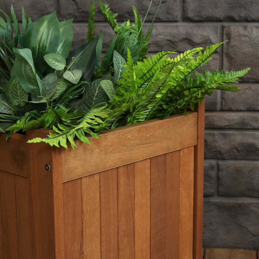 Closeup of Planter Box Corner