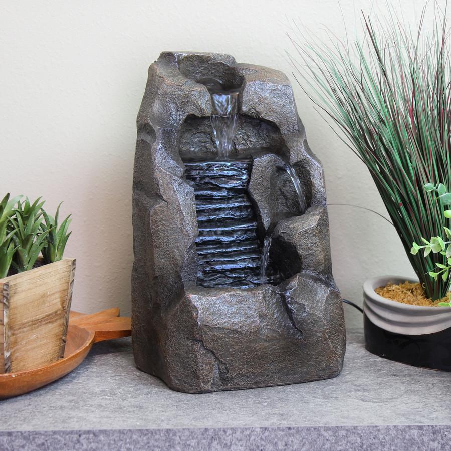 Stony Rock Waterfall Indoor Tabletop Fountain
