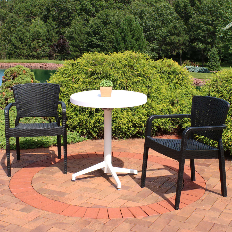Sunnydaze All-Weather Segonia 3-Piece Patio Furniture Dining Set