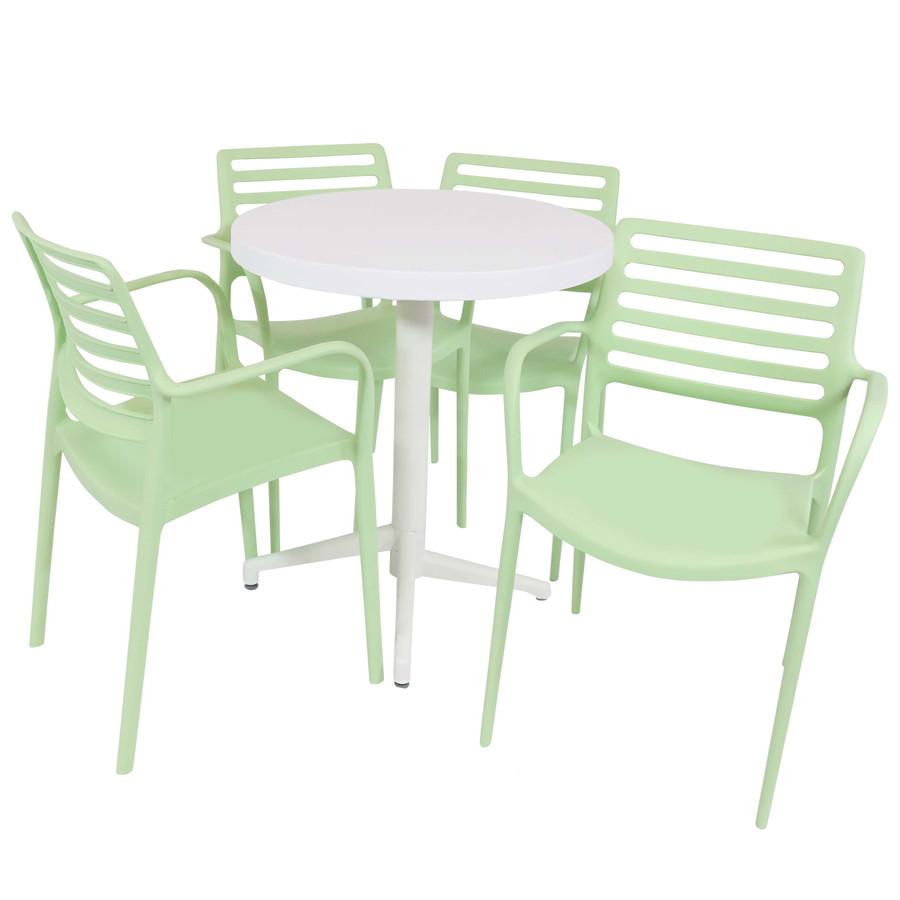 Sunnydaze All-Weather Astana 5-Piece Patio Furniture Dining Set