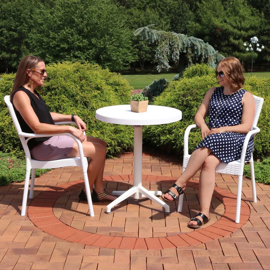 Sunnydaze All-Weather Segesta 3-Piece Patio Furniture Dining Set