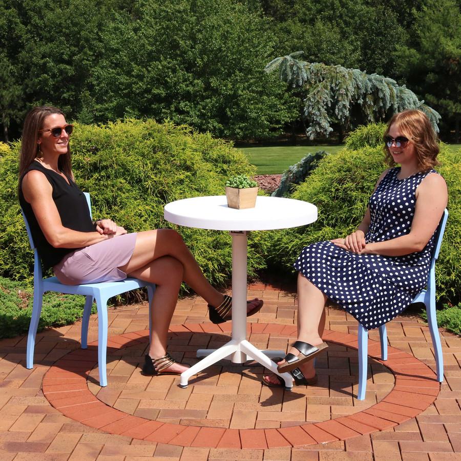 Sunnydaze All-Weather Elmott 3-Piece Patio Furniture Dining Set - Commercial Grade - Indoor/Outdoor Use
