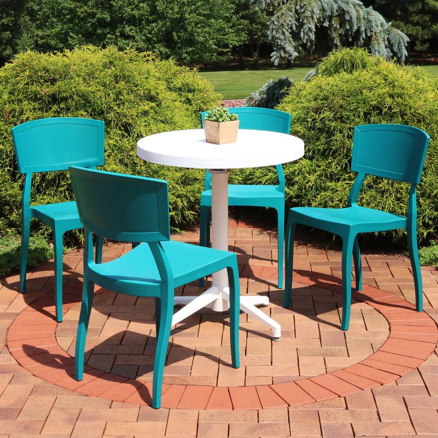 Sunnydaze All-Weather Elmott 5-Piece Patio Furniture Dining Set