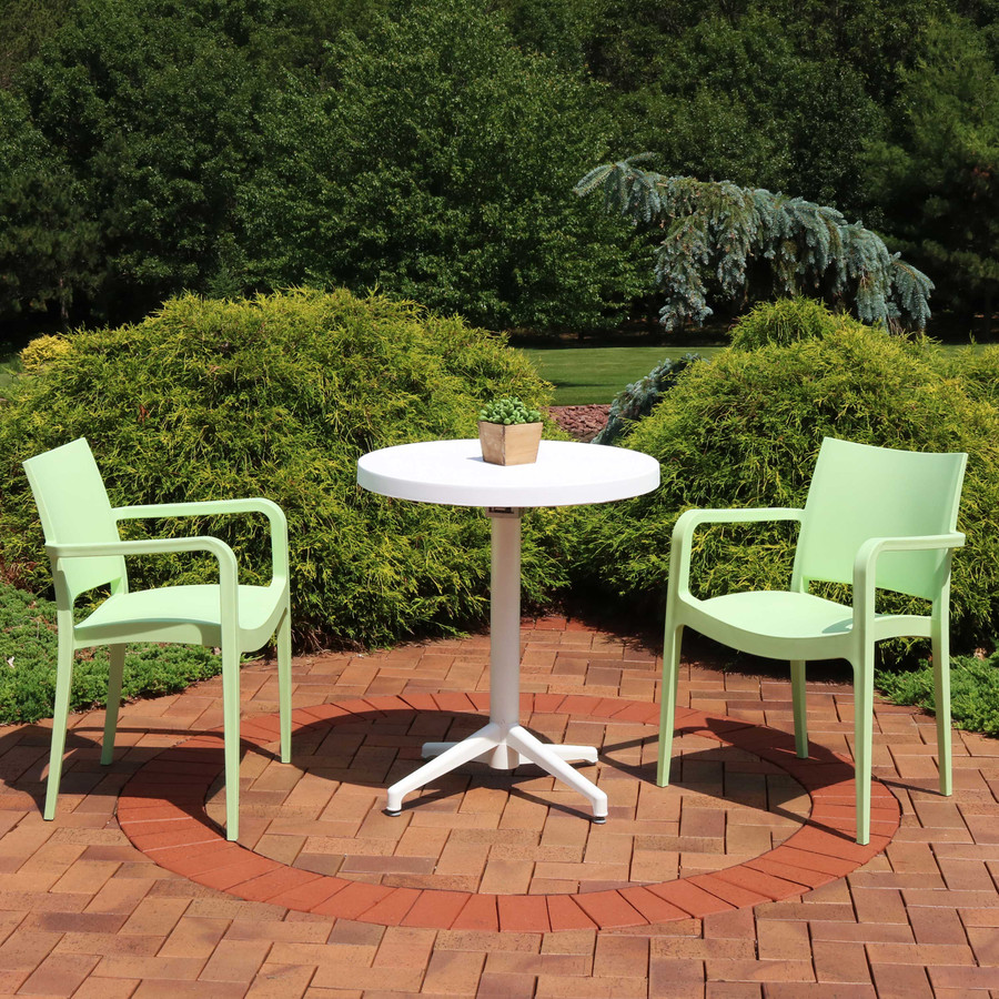 Sunnydaze All-Weather Landon 3-Piece Patio Furniture Dining Set