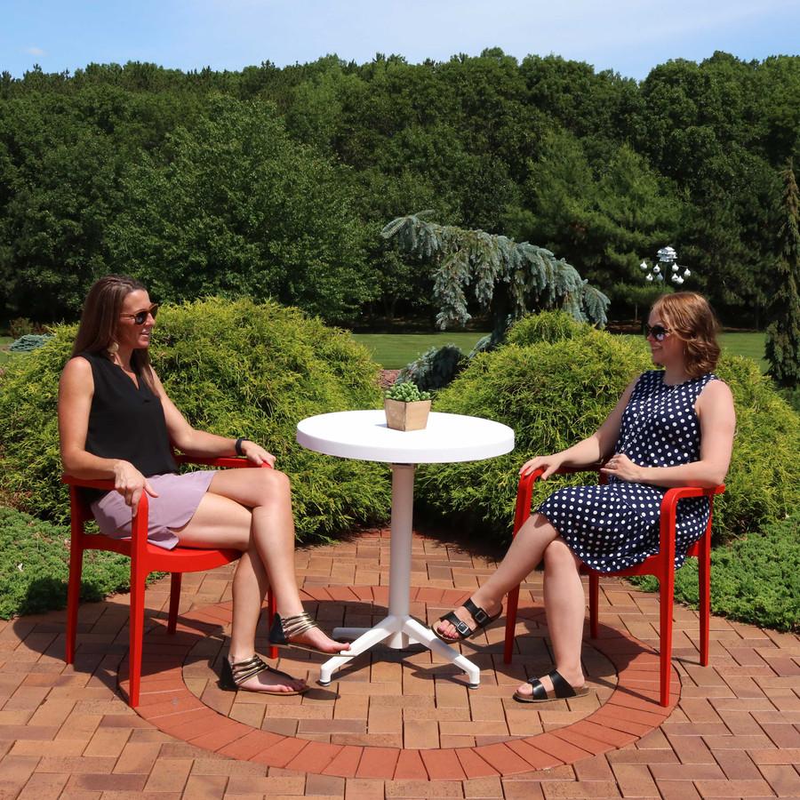 Sunnydaze All-Weather Landon 3-Piece Patio Furniture Dining Set