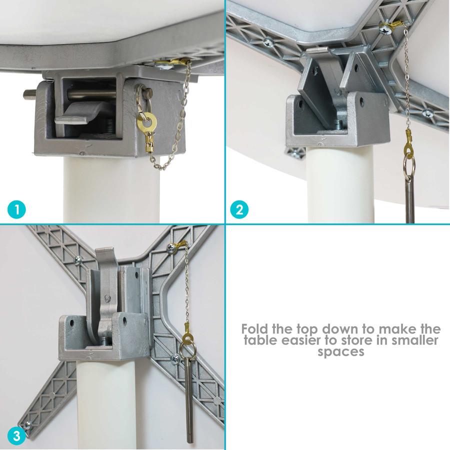 Sunnydaze All-Weather Landon 5-Piece Patio Furniture Dining Set - Commercial Grade - Indoor/Outdoor Use