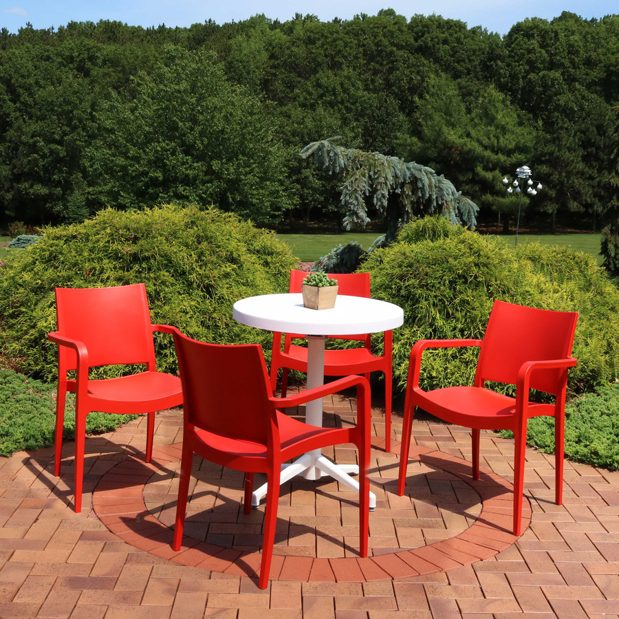 Sunnydaze All-Weather Landon 5-Piece Patio Furniture Dining Set