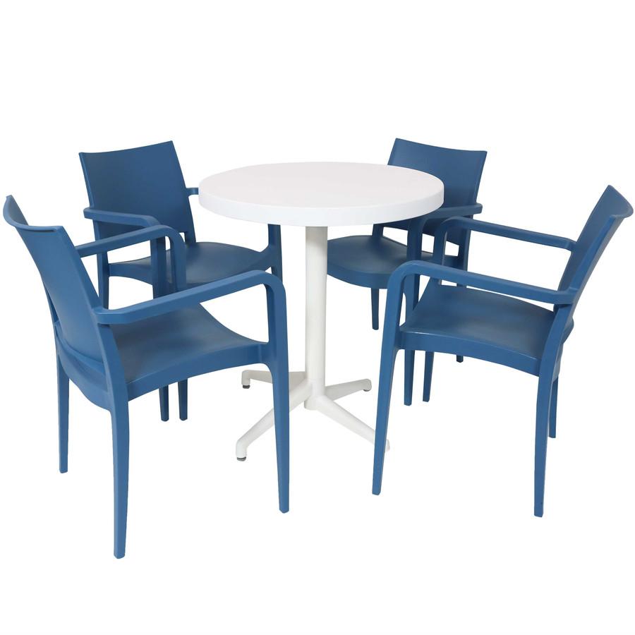 Sunnydaze All-Weather Landon 5-Piece Patio Furniture Dining Set
